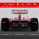 Ferrari F2012 back