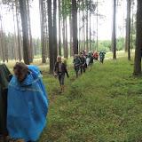 Po obědě jsme pokračovali dále (už směrem k táboru) - sice zatím nepršelo, ale obloha vypadala dost nejistě...