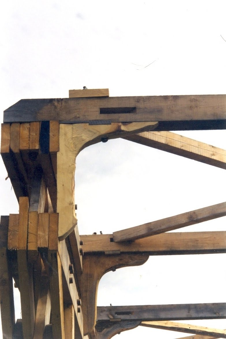 Detail of a ships knee with shear key.