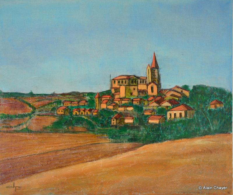 111 - Castelnau - 2005 46 x 55 - Acrylique sur toile