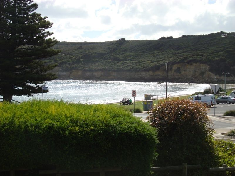 The view from my motel room in Port Campbell