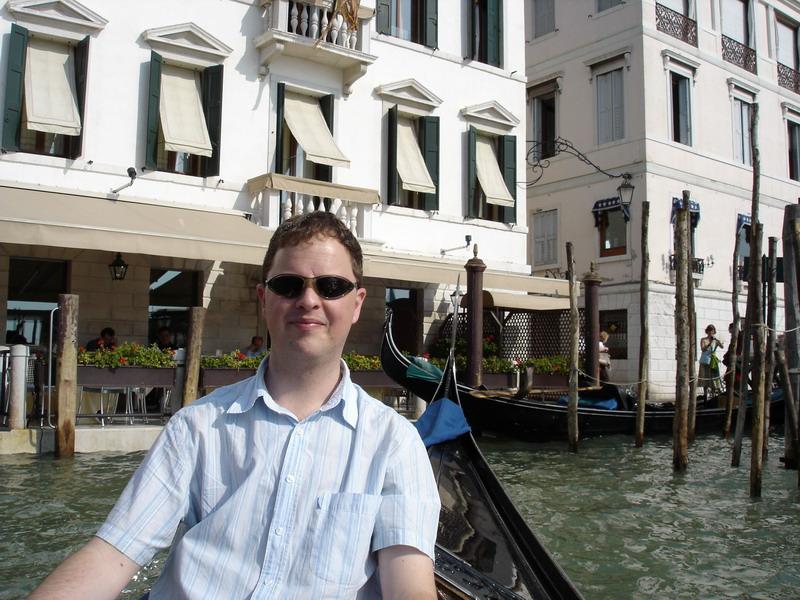 On a gondola ride