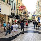 Very distinctive Portuguese pavement in Largo do Senado area