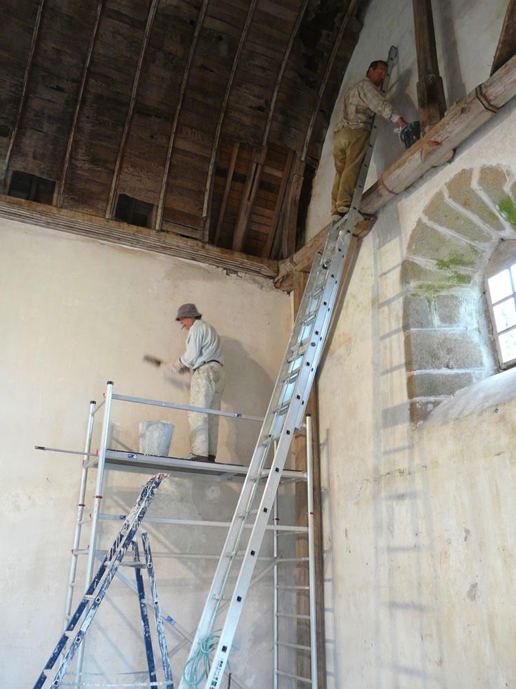 Les travaux de la Chapelle