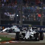 Valtteri Bottas leads Felipe Massa, Williams FW37 Mercedes