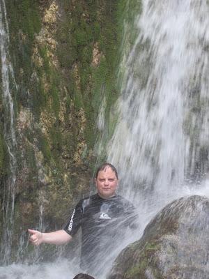 Standing under a waterfall photo fail :(