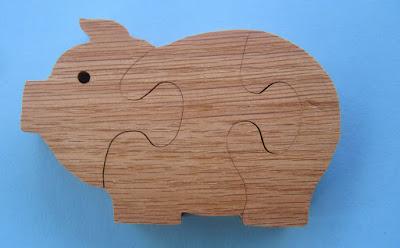 Puzzle 3 Piece Pig 5.1 x 3.25