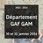 2016 - GAF GAM -  Compétition Départementale -  30 et 31 Janvier