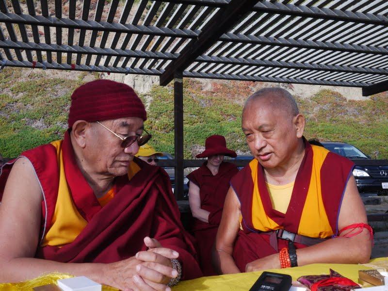 Geshe Ngawang Drakpa and Lama Zopa Rinpoche