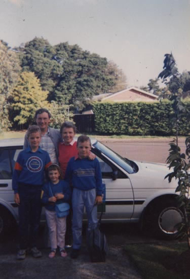 The family in Auckland, just before departure
