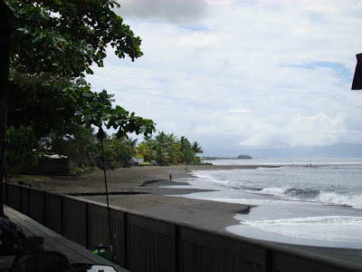 The beach in front of the Radisson