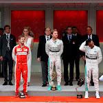2015 Monaco podium: 1. Rosberg, 2. Vettel, 3. Hamilton