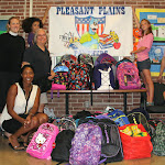 2014 50+ Back packs to Pleasant Plains Elem
