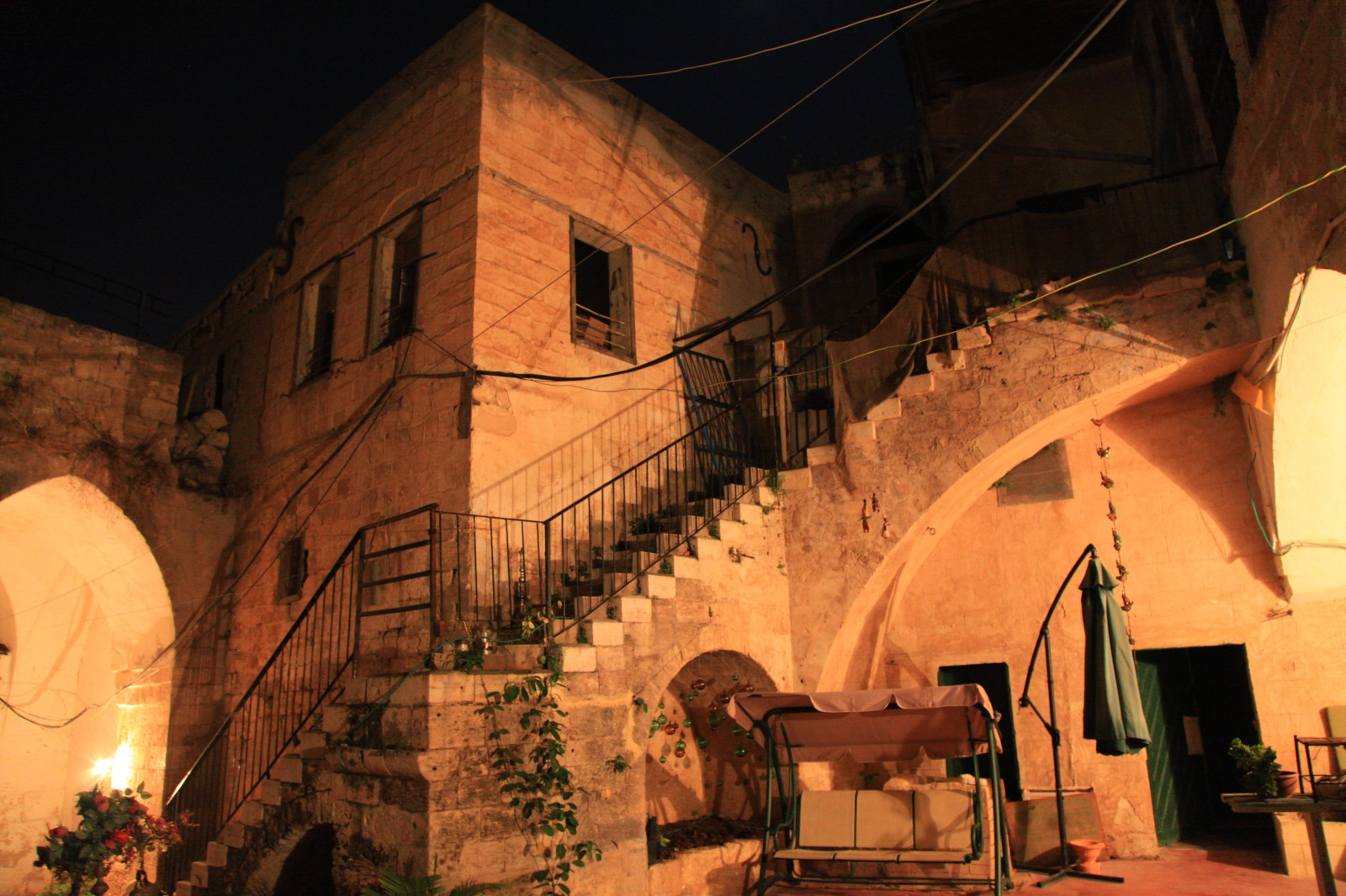 A hostel in an ancient building in Nazareth