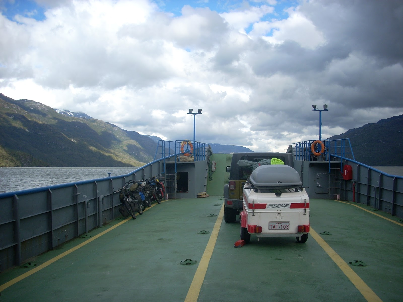 Bikes on the ferry