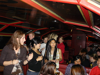 The farewell party cruise on the canals of Amsterdam.....