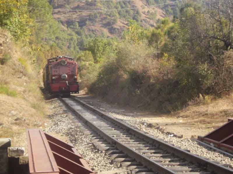 Railway track near sunrise villa shimla