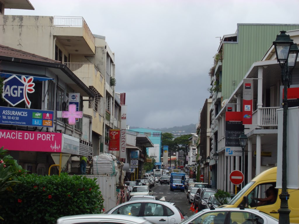 Main streets of Papeete