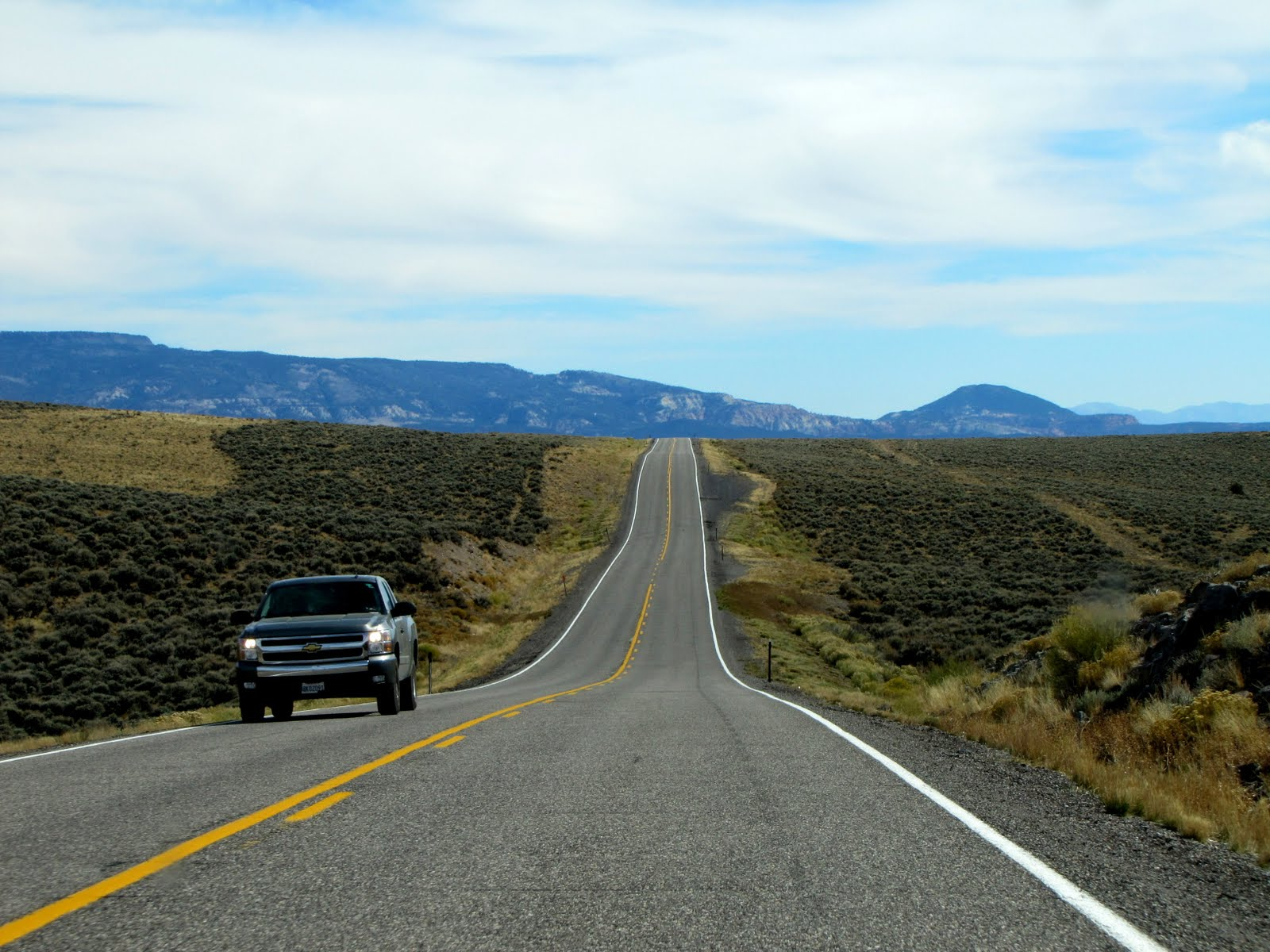Long way to the Capitol Reef National Park, 2016 Chevrolet Silverado