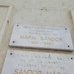 Márai Sándor emléktáblája