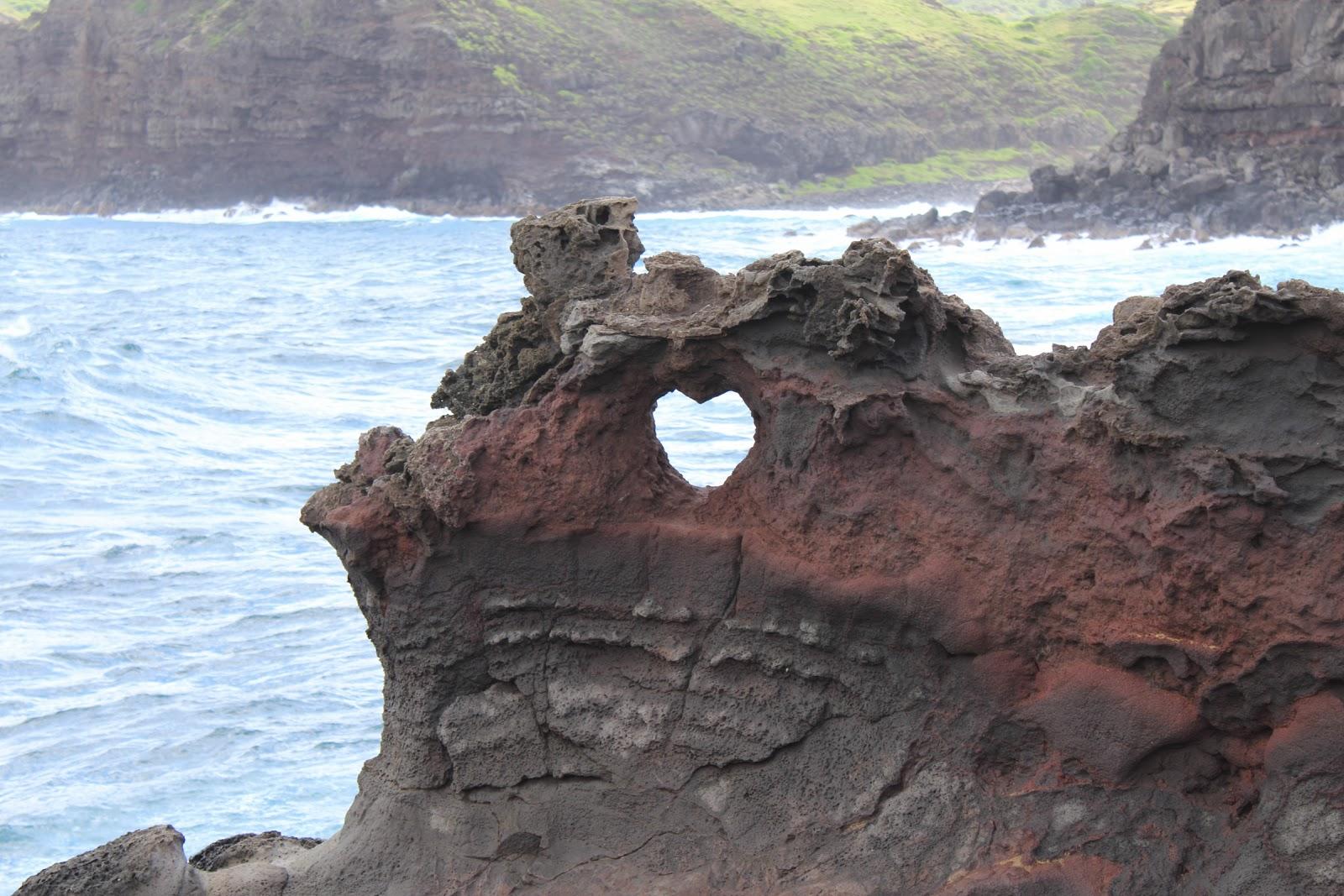 A heart-shaped hole near Nakalele Blowhole