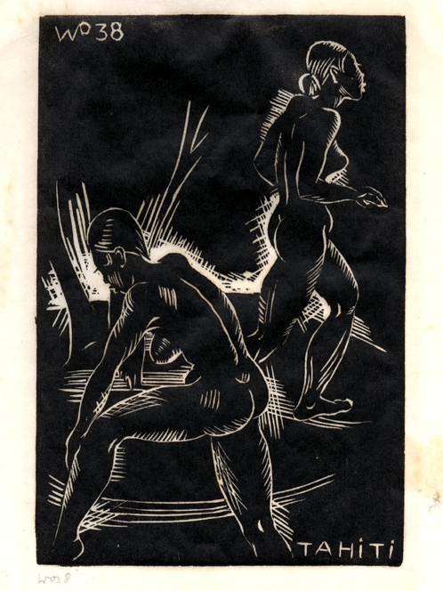 Le Cecelin, woodcut, 1938