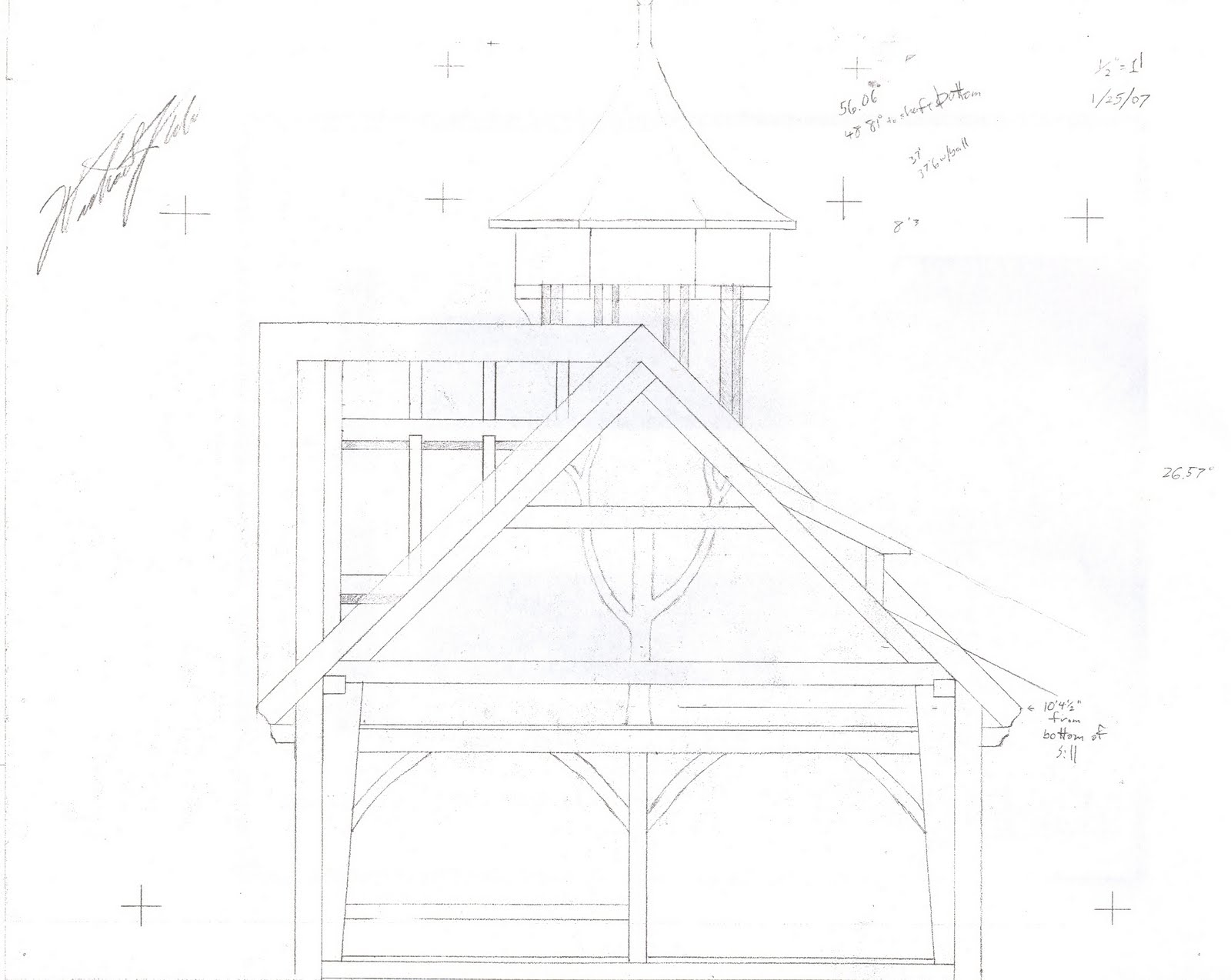 Detail of the gable for a home in Marshfield.