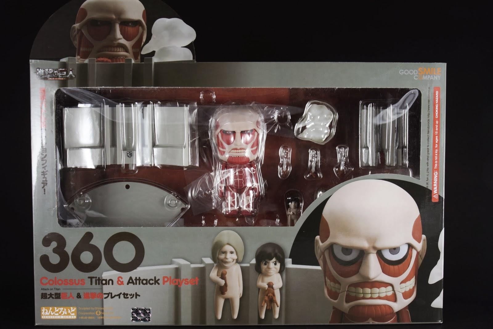 黏土人系列的50M超大型巨人 盒子上面應景有個巨人頭很溝追