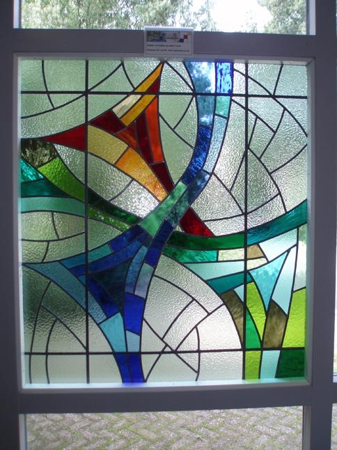 Volledig glas in lood raam