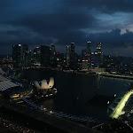Singapore Street circuit skyscraper overview
