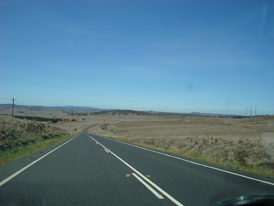 Typical view driving on the road between Canberra and Lakes Entrance in the NSW section. 700m - 1000m plateau. Dry and straight