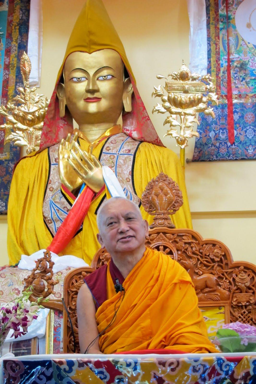 Lama Zopa Rinpoche teaching at Tushita Meditation Centre, June 13, 2013. Photo: Ven.Sarah Thresher