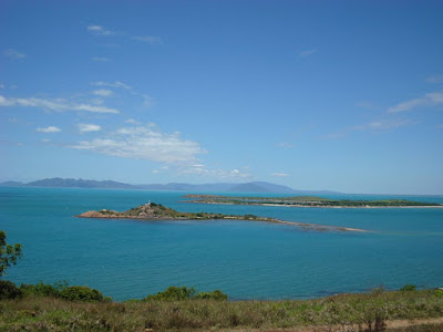 Looking at hydeaway bay in the distance (100km by road) from Flagstaff hill, Bowen