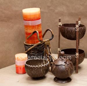Екзотични аксесоари за дома от кокосов орех