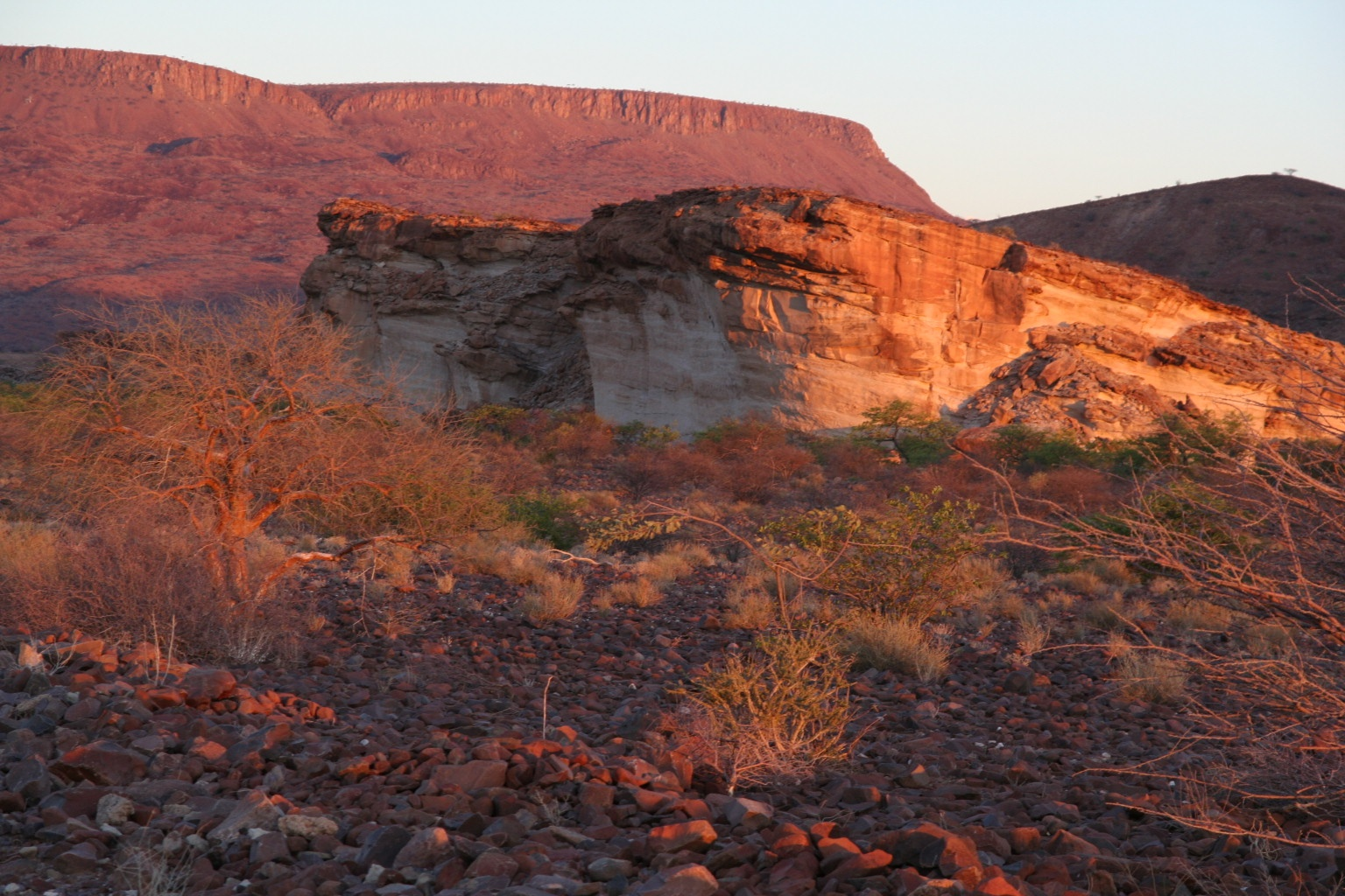 Sunset in Damaraland