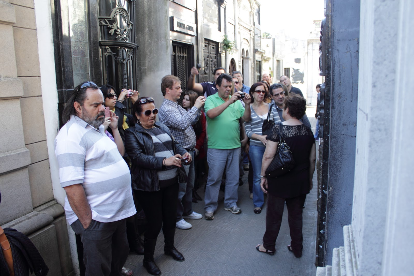 Eva Peron's grave - its a major tourist draw