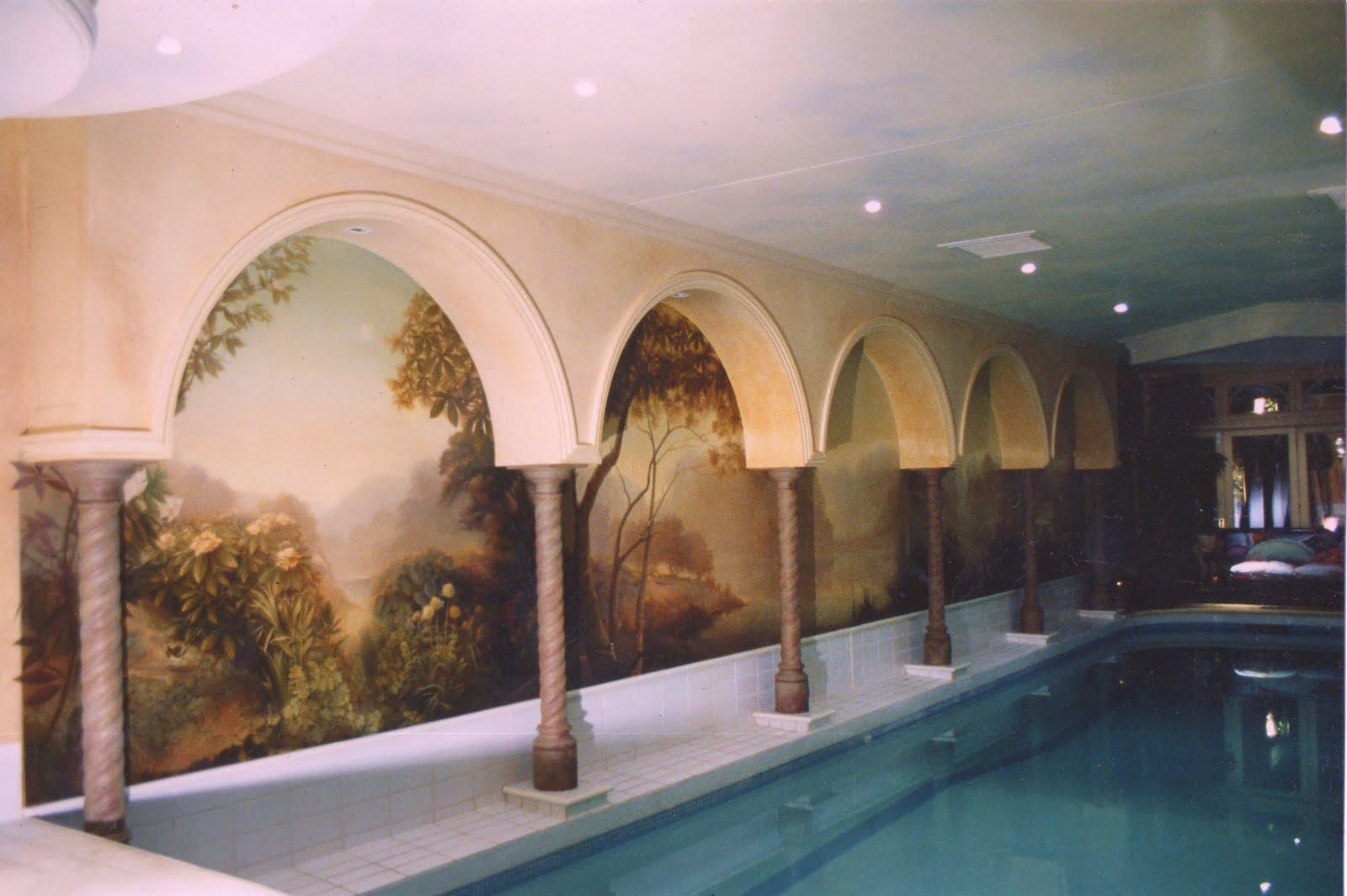 R Branson pool mural
