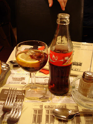 Coke in a wine glass....a first