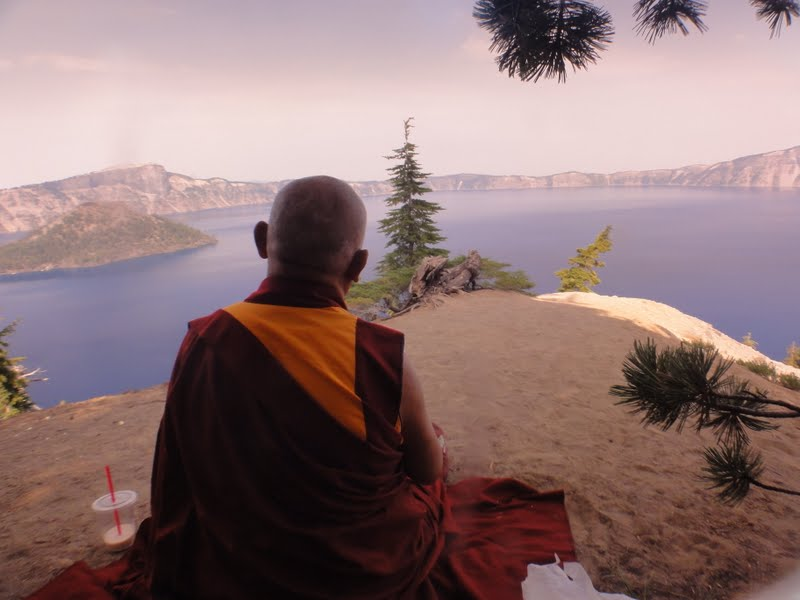 Rinpoche at Crater Lake