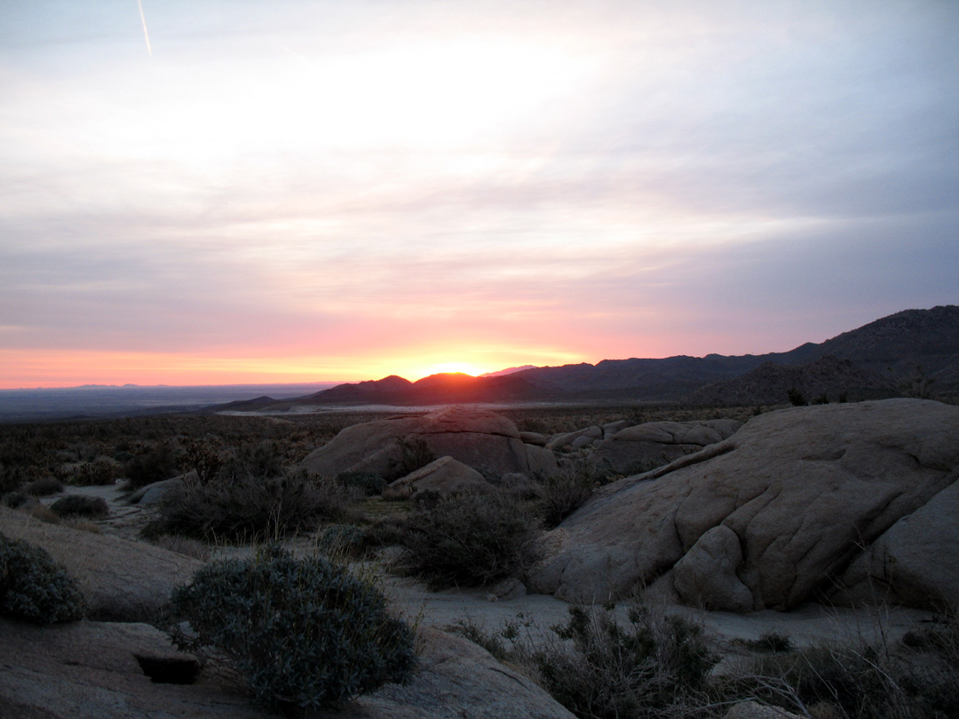 Sunrise looking towards El Centro
