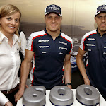 600 F1 Grand Prix starts for Williams: Sussie Wolff, Valteri Bottas, Pastor Maldonado
