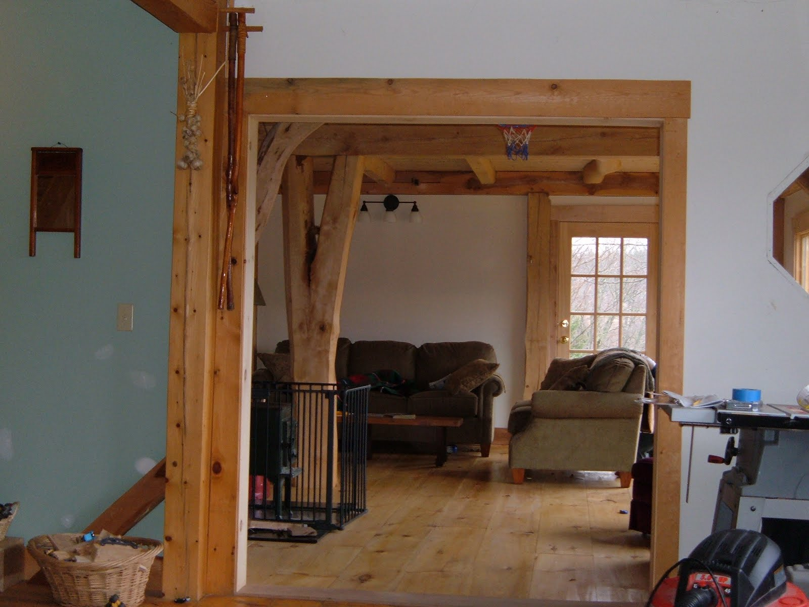 The home owners finished thier own interior.