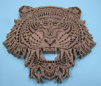 TIGRIS Ornate Tiger  Pattern By Charles Hand original by  Ben Kwok of BIOWORKZ
