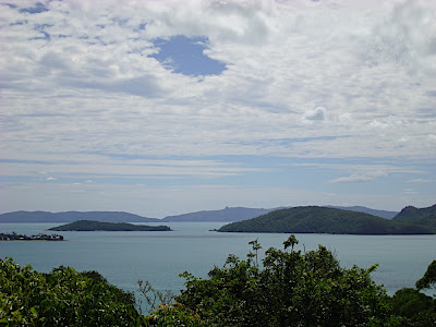 The views from the Coral beach lookout (Shute harbour area)