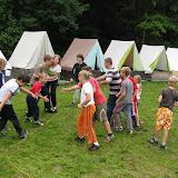 Třetí den tábora: dětské kluby spolu častou soutěžily, vždy se ale snažily hrát v duchu fair play