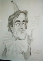 Sylvain Vallé 03 Caricature de Jeannot expo Hall du Crédit Agricole 1995 Cossé