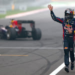 Sebastian Vettel (GER/ Red Bull Racing) grid party after winning his F1 drivers title for the 4th time