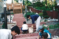 1997 - Building Uphill Stairway to Niet Ban shrine 3