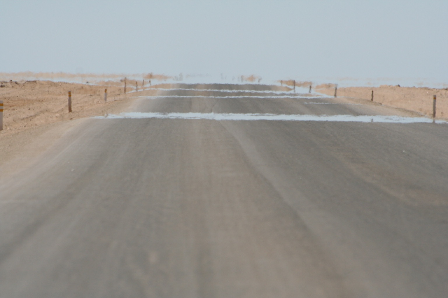 A mirage on a salt road
