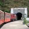Shivalik Deluxe train at Barog railway station